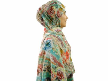 شال نخی چاپ دیجیتال ۲۳۵ | خرید شال نخی | فروشگاه تخصصی شال و روسری کاشانه
