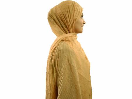 شال پلیسه نخی نسکافه ای 372 | خرید شال خاکی | فروشگاه تخصصی شال و روسری کاشانه