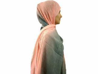 شال پلیسه طیفی گلبهی طوسی 463 | خرید شال طیفی | فروشگاه تخصصی شال و روسری کاشانه