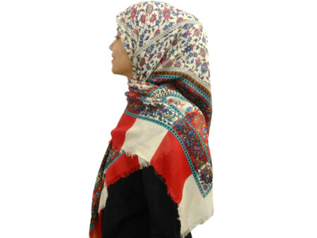 روسری ریشه دار نخی ۴۷۶ | فروشگاه اینترنتی کاشانه