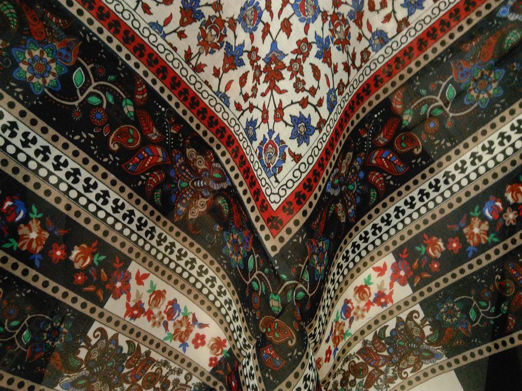 روسری ریشه پرزی نخی کد 478