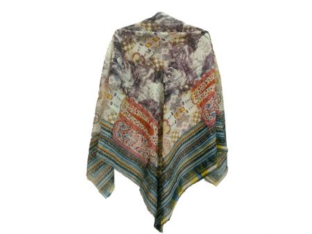 روسری ریشه پرزی نخی کد 498