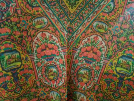 روسری نخی زرشکی چاپ دیجیتال ۷۰۱ | فروشگاه اینترنتی کاشانه