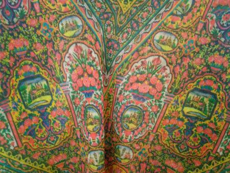 روسری نخی سبز تیره چاپ دیجیتال 702