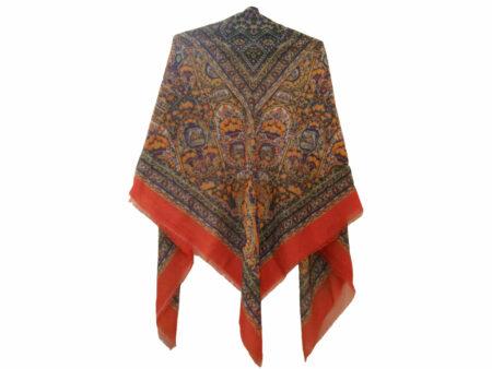 روسری نخی قرمز چاپ دیجیتال 704
