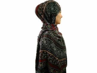 شال نخی گل گلی مشکی 724 | خرید شال خنک تابستانی | فروشگاه تخصصی شال و روسری کاشانه