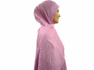 شال پلیسه لمه دار یاسی 742 | خرید شال پلیسه یاسی | فروشگاه تخصصی شال و روسری کاشانه