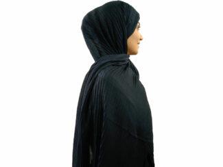 شال پلیسه نخی سرمه ای 750 | خرید شال پلیسه سرمه ای | فروشگاه تخصصی شال و روسری کاشانه