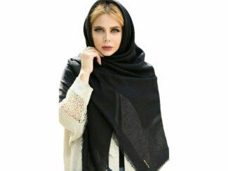 روسری نخی مشکی 754