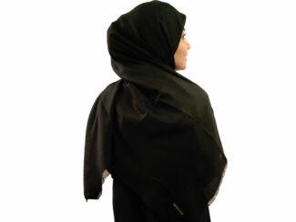 روسری نخی مشکی 754 | خرید روسری مشکی | فروشگاه تخصصی شال و روسری کاشانه