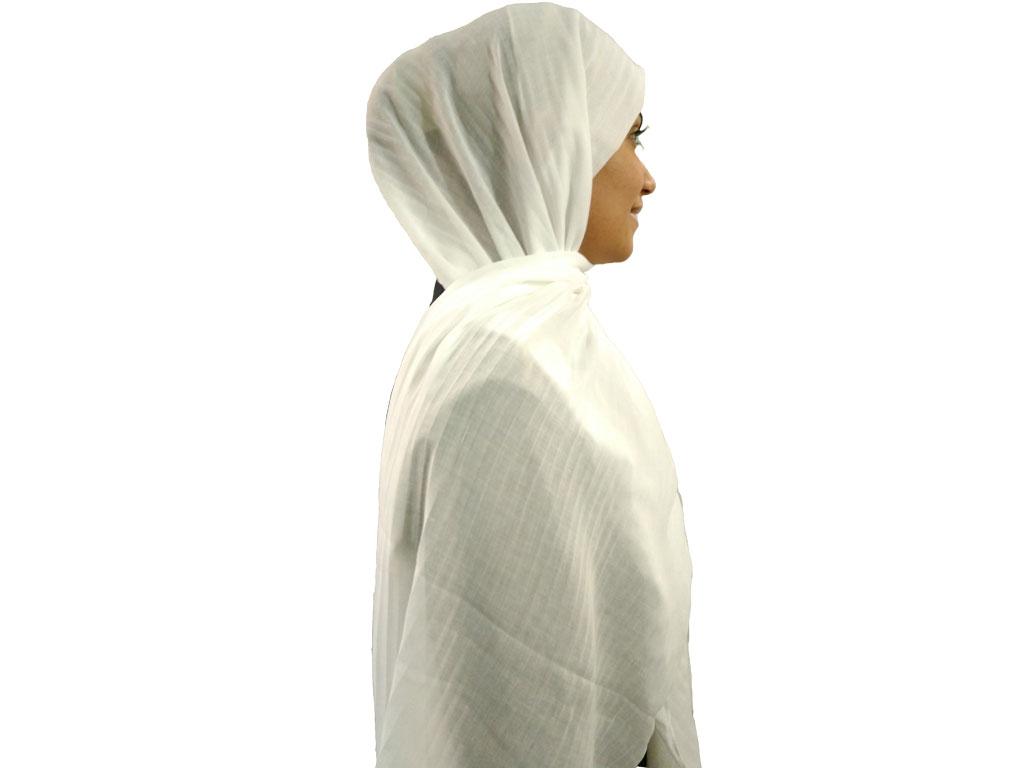 شال پلیسه سفید | خرید شال نخی سفید | فروشگاه تخصصی شال و روسری کاشانه