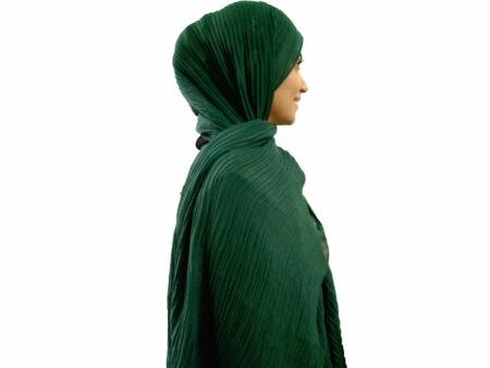 شال پلیسه سبز 770 | خرید اینترنتی شال پلیسه | فروشگاه تخصصی شال و روسری کاشانه