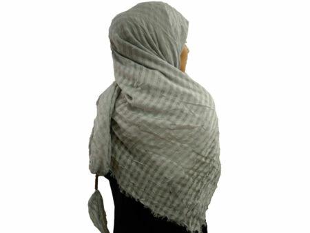 روسری نخی منگوله دار طوسی 781