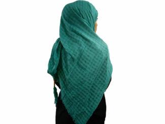 روسری نخی منگوله دار سبزآبی 783