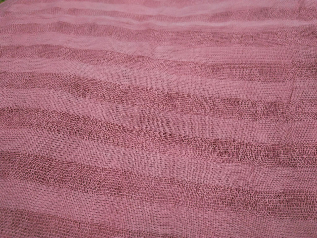روسری نخی منگوله دار صورتی 785