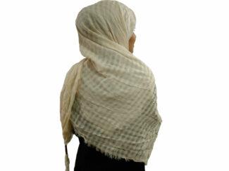 روسری نخی منگوله دار شیری 786