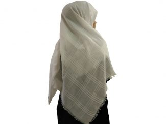 روسری نخی ریشه پرزی سفید 787