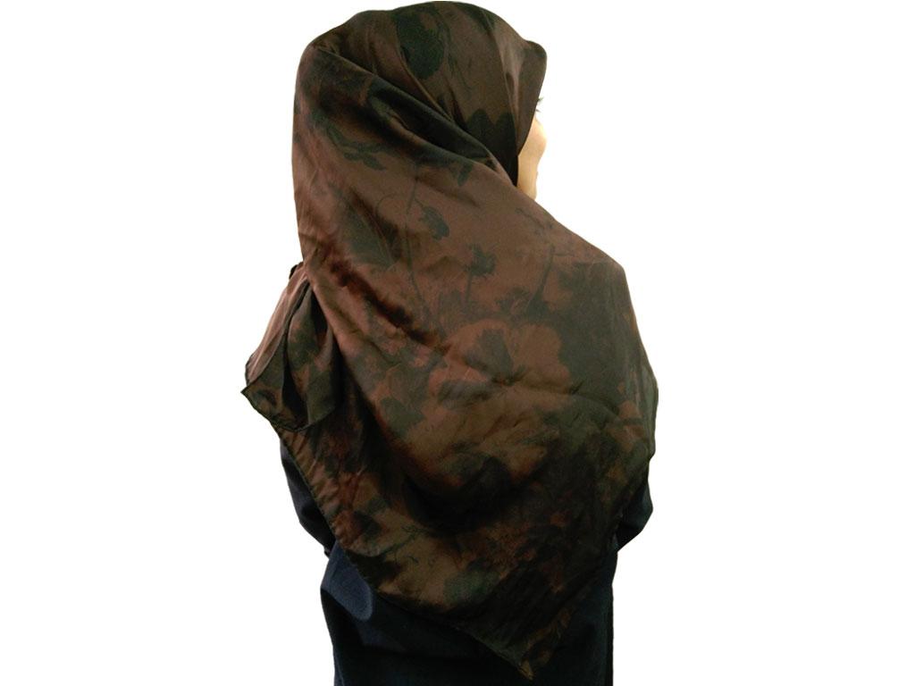 روسری مامی دست دوز قهوه ای 811