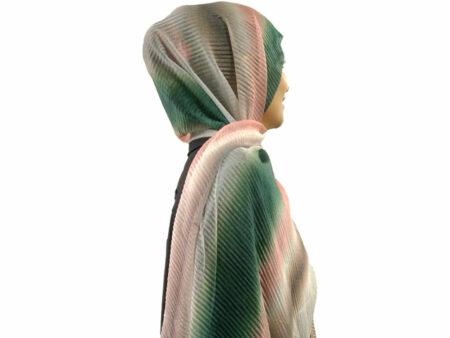 شال پلیسه شنی طیفی ۸۱۴ | قیمت شال پلیسه طیفی | فروشگاه تخصصی شال و روسری کاشانه