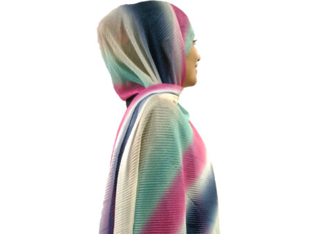 شال پلیسه شنی طیفی ۸۱۵ | قیمت شال پلیسه مجلسی | فروشگاه تخصصی شال و روسری کاشانه