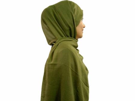 شال سبز سوپرنخ 852 | خرید اینترنتی شال و روسری