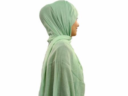 شال سبز دریایی سوپرنخ 855 | خرید اینترنتی شال و روسری