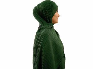 شال پلیسه سبز 768 | خرید اینترنتی شال پلیسه | فروشگاه تخصصی شال و روسری کاشانه