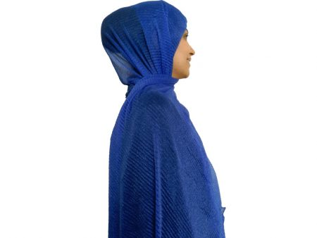 شال شنی پلیسه مجلسی آبی 875 | خرید شال شنی |خرید اینترنتی شال و روسری