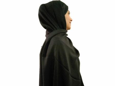 خرید شال نخی مشکی 891 | خرید شال مشکی | فروشگاه تخصصی شال و روسری کاشانه