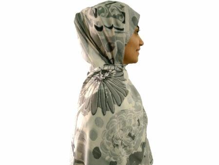 شال آبرنگی طوسی 895 | قیمت شال نخی طوسی | فروشگاه تخصصی شال و روسری کاشانه