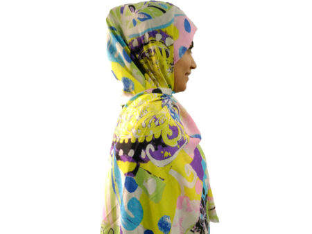 شال آبرنگی زرد 896 | قیمت شال نخی زرد | فروشگاه تخصصی شال و روسری کاشانه