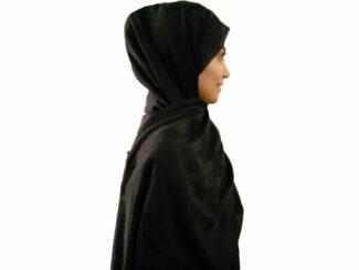 شال هنرمندی مشکی حصیری 898 | فروش ویژه شال هنرمندی | قیمت شال هنرمندی مشکی | فروشگاه کاشانه
