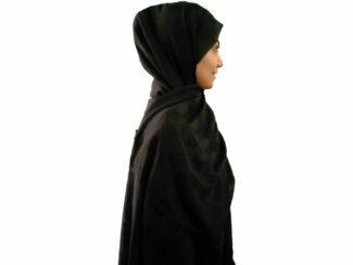 شال هنرمندی مشکی حصیری 898 | فروش ویژه شال هنرمندی | فروشگاه کاشانه