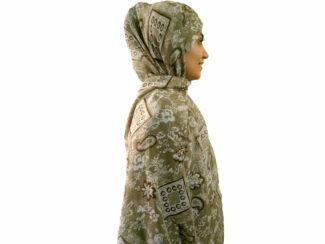 شال نخی بته جقه سبز سدری 899 | خرید شال نخی خنک تابستانی | فروشگاه تخصصی شال و روسری کاشانه