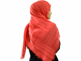 روسری نخی قرمز 903 | خرید روسری قرمز با قیمت مناسب | فروشگاه تخصصی شال و روسری کاشانه