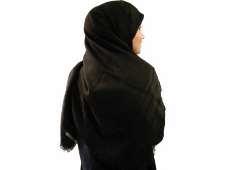 روسری نخی مشکی 904 | خرید روسری مشکی با قیمت مناسب | فروشگاه تخصصی شال و روسری کاشانه