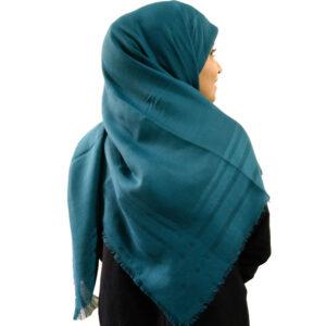 روسری نخی سبزآبی 905 | خرید روسری سبزآبی | فروشگاه تخصصی شال و روسری کاشانه