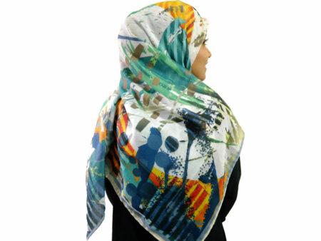 روسری نخی آبرنگی 912 | قیمت روسری آبرنگی | فروشگاه تخصصی شال و روسری کاشانه