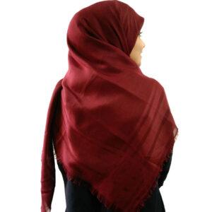 روسری نخی زرشکی 913 | خرید روسری زرشکی | فروشگاه تخصصی شال و روسری کاشانه
