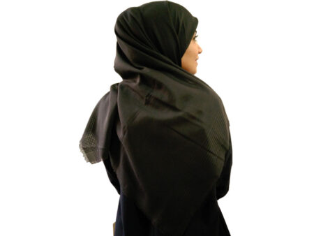 خرید روسری نخی ساده دودی ارزان 926