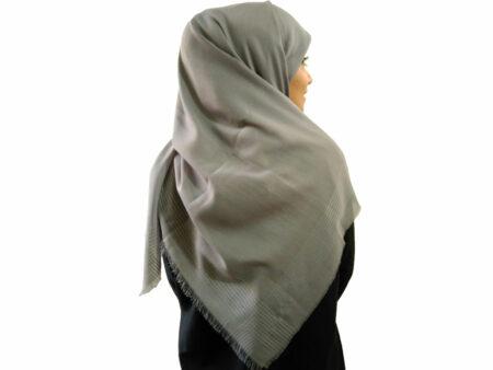 خرید روسری نخی طوسی 929