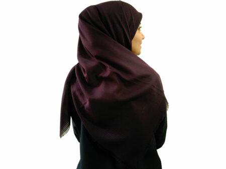 خرید روسری نخی بادمجانی 930