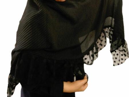 روسری مشکی مجلسی