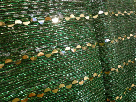 شال شنی مجلسی پولک دار سبز 944