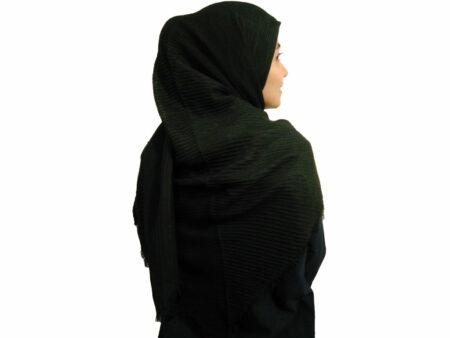روسری پلیسه ساده مشکی