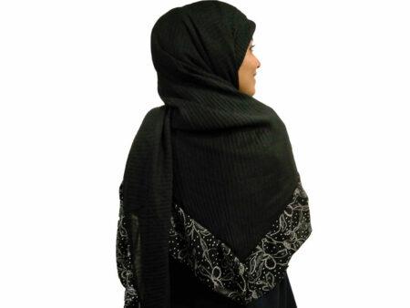 روسری پلیسه حاشیه دار مجلسی