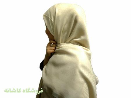 مدل روسری ژاکارد مجلسی شیری