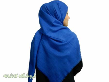 روسری آبی کاربنی قواره بزرگ